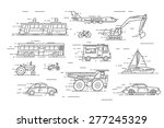 vector linear transport icons... | Shutterstock .eps vector #277245329
