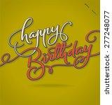 happy birthday original custom... | Shutterstock .eps vector #277248077