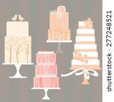 wedding cakes.  illustration. | Shutterstock .eps vector #277248521