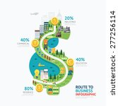 infographic business money... | Shutterstock .eps vector #277256114