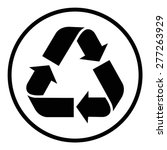 recycle symbol | Shutterstock .eps vector #277263929