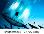 satellite dish transmission... | Shutterstock . vector #277276889