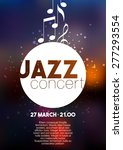 vertical music jazz poster with ... | Shutterstock .eps vector #277293554