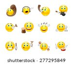 set of yellow smiles that play... | Shutterstock .eps vector #277295849