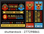 Set Of Vintage Lucha Libre...
