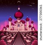 arabian castle in the night ... | Shutterstock .eps vector #277300361