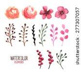 vector floral set. vector hand...