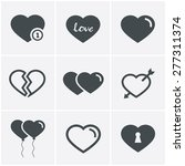 hearts  icons set  vector design | Shutterstock .eps vector #277311374