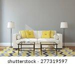 modern living room interior... | Shutterstock . vector #277319597