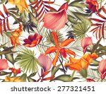seamless tropical flower  plant ... | Shutterstock . vector #277321451