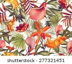 seamless tropical flower  plant ... | Shutterstock . vector #277321451