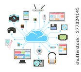 cloud server and sync of... | Shutterstock . vector #277324145
