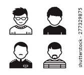 people avatar and user icons.... | Shutterstock .eps vector #277329875