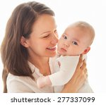 portrait of a happy mother and... | Shutterstock . vector #277337099