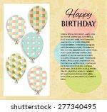 vintage birthday card  postcard ... | Shutterstock .eps vector #277340495