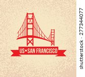 golden gate bridge   the symbol ... | Shutterstock .eps vector #277344077