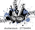 grunge music | Shutterstock . vector #27734494