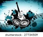 cool wacky grunge music... | Shutterstock . vector #27734509