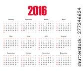 calendar  2016.  european...   Shutterstock .eps vector #277346624