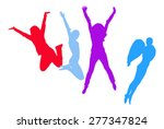 jumping angels | Shutterstock .eps vector #277347824