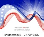abstract image of the american... | Shutterstock .eps vector #277349537