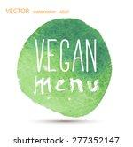 raw vegan badges. vector hand... | Shutterstock .eps vector #277352147