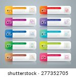 infographic design template can ... | Shutterstock .eps vector #277352705