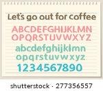 alphabet letters  lowercase ... | Shutterstock .eps vector #277356557