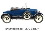 1924 vintage car isolated with... | Shutterstock . vector #27735874