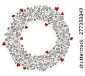 Secret Garden Wreath With Red...