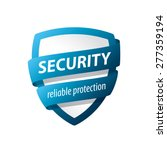 vector logo blue shield for... | Shutterstock .eps vector #277359194