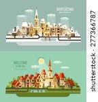 city  town vector logo design... | Shutterstock .eps vector #277366787