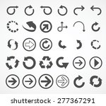 arrows icons  arrows icons set  | Shutterstock .eps vector #277367291