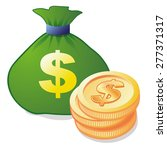 money bag and coins  icon