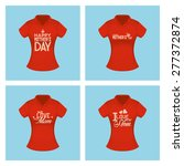 set of shirts with text for... | Shutterstock .eps vector #277372874