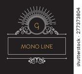 mono line monogram    logo...   Shutterstock .eps vector #277373804