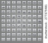 set of grey vector icons on the ... | Shutterstock .eps vector #277375481