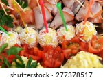 fish and meat snack with... | Shutterstock . vector #277378517
