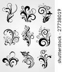 floral  design tattoos ... | Shutterstock .eps vector #27738019
