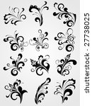 set of antique black tattoos... | Shutterstock .eps vector #27738025