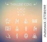 medicine thin line icon set for ... | Shutterstock .eps vector #277381949