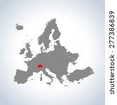 map of switzerland | Shutterstock .eps vector #277386839