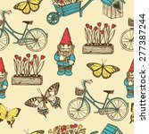 hand drawn vintage summer... | Shutterstock .eps vector #277387244