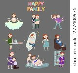 seth pregnant women and couples ... | Shutterstock .eps vector #277400975