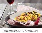 Italian Pasta Carbonara With...