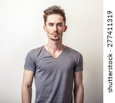 portrait of young handsome man... | Shutterstock . vector #277411319