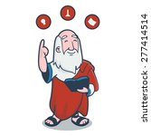 Plato In Cartoon Style Vector