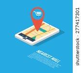 smartphone navigation in modern ... | Shutterstock .eps vector #277417301
