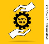 hand of businessman hold safety ... | Shutterstock .eps vector #277420415