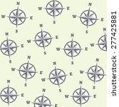 compass seamless pattern....   Shutterstock .eps vector #277425881
